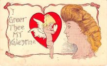 val003383 - Valentines Day Post Card Old Vintage Antique