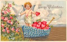 val003393 - Valentines Day Post Card Old Vintage Antique