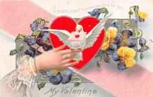 val003405 - Valentines Day Post Card Old Vintage Antique