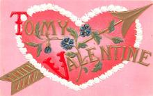val003409 - Valentines Day Post Card Old Vintage Antique