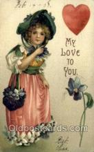 val050507 - Valentines Day, Old Vintage Antique Postcard Post Card