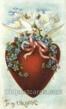 val050518 - Valentines Day, Old Vintage Antique Postcard Post Card