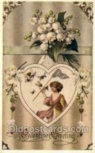 val050537 - Reproduction - Valentines Day, Old Vintage Antique Postcard Post Card