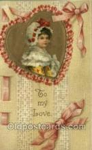 val050622 - Valentines Day, Old Vintage Antique Postcard Post Card
