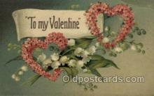 val050634 - Valentines Day, Old Vintage Antique Postcard Post Card