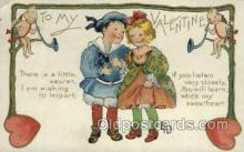 val050635 - Valentines Day, Old Vintage Antique Postcard Post Card