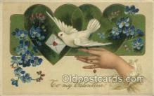 val050652 - Valentines Day, Old Vintage Antique Postcard Post Card