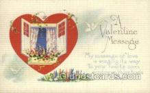 val050659 - Valentines Day, Old Vintage Antique Postcard Post Card