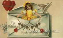 val050660 - Valentines Day, Old Vintage Antique Postcard Post Card