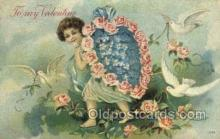 val050673 - Valentines Day, Old Vintage Antique Postcard Post Card