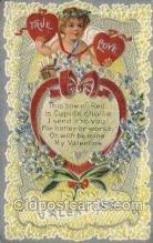 val050680 - Valentines Day, Old Vintage Antique Postcard Post Card