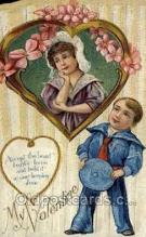 val050681 - Valentines Day, Old Vintage Antique Postcard Post Card