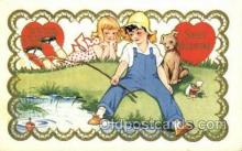 val050694 - Valentines Day Old Vintage Antique Postcard Post Cards