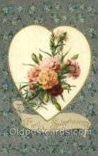 val100428 - Silk Front Valentines Day Postcard Post Cards