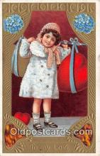 val100567 - Valentines Day Postcard Post Card Old Vintage Antique