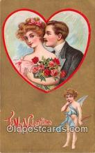 val100572 - Valentines Day Postcard Post Card Old Vintage Antique