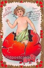 val100591 - Valentines Day Postcard Post Card Old Vintage Antique