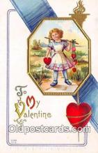 val100592 - Valentines Day Postcard Post Card Old Vintage Antique