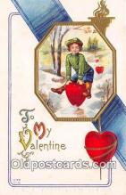 val100597 - Valentines Day Postcard Post Card Old Vintage Antique