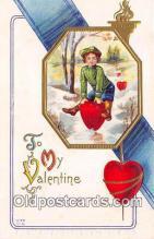 val100597 - Valentines Day Postcard Post Card Old Vintage Antique