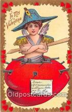 val100604 - Valentines Day Postcard Post Card Old Vintage Antique