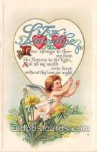 val100609 - Valentines Day Postcard Post Card Old Vintage Antique