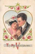val100613 - Valentines Day Postcard Post Card Old Vintage Antique