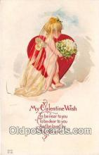 val100621 - Valentines Day Postcard Post Card Old Vintage Antique
