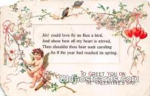 val100640 - Valentines Day Postcard Post Card Old Vintage Antique