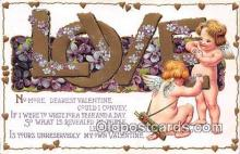 val100662 - Valentines Day Postcard Post Card Old Vintage Antique