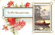 val200013 - Valentines Day Post Card Old Vintage Antique Postcard