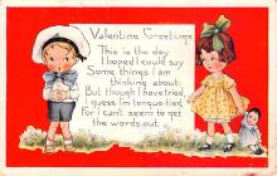 val200015 - Valentines Day Post Card Old Vintage Antique Postcard