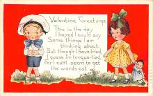 val200019 - Valentines Day Post Card Old Vintage Antique Postcard