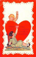 val200025 - Valentines Day Post Card Old Vintage Antique Postcard