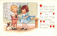 val200027 - Valentines Day Post Card Old Vintage Antique Postcard