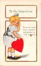 val200029 - Valentines Day Post Card Old Vintage Antique Postcard