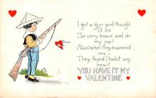 val200031 - Valentines Day Post Card Old Vintage Antique Postcard