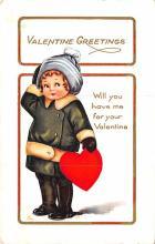 val200035 - Valentines Day Post Card Old Vintage Antique Postcard