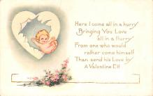 val200039 - Valentines Day Post Card Old Vintage Antique Postcard