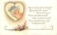 val200043 - Valentines Day Post Card Old Vintage Antique Postcard