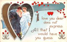 val200045 - Valentines Day Post Card Old Vintage Antique Postcard