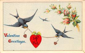 val200053 - Valentines Day Post Card Old Vintage Antique Postcard