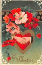 val200055 - Valentines Day Post Card Old Vintage Antique Postcard