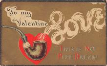 val200057 - Valentines Day Post Card Old Vintage Antique Postcard