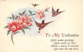 val200071 - Valentines Day Post Card Old Vintage Antique Postcard