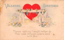 val200073 - Valentines Day Post Card Old Vintage Antique Postcard