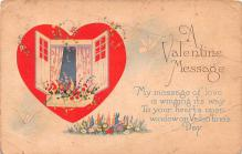 val200077 - Valentines Day Post Card Old Vintage Antique Postcard