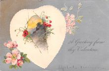 val200079 - Valentines Day Post Card Old Vintage Antique Postcard