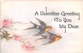 val200083 - Valentines Day Post Card Old Vintage Antique Postcard
