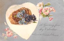 val200087 - Valentines Day Post Card Old Vintage Antique Postcard